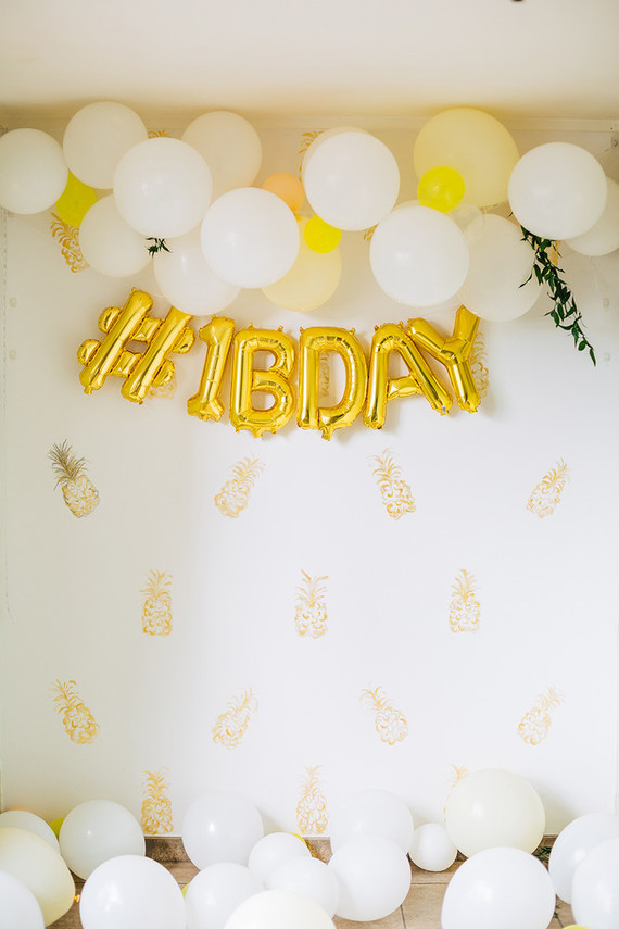 first birthday photo booth