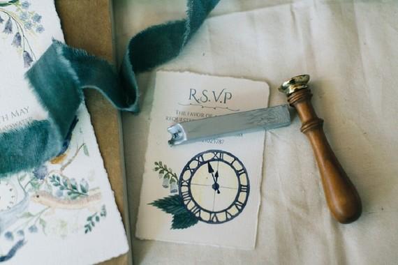 Rustic modern Cinderella invites