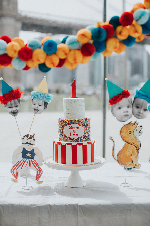 Brooklyn carousel 1st birthday for twins