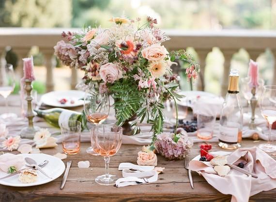 Romantic Florence tablescape