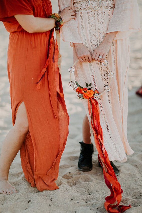Desert wedding fashion
