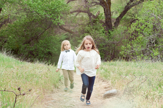Family photos at Wind Wolves Preserve