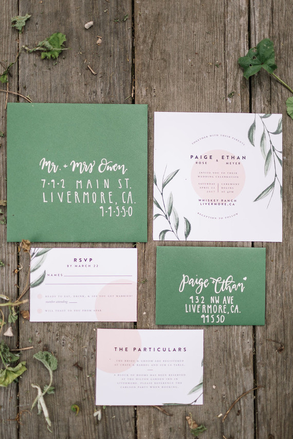 Rustic wedding invite