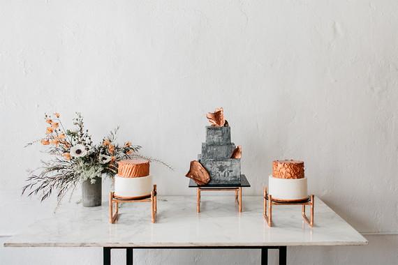 Copper cake table