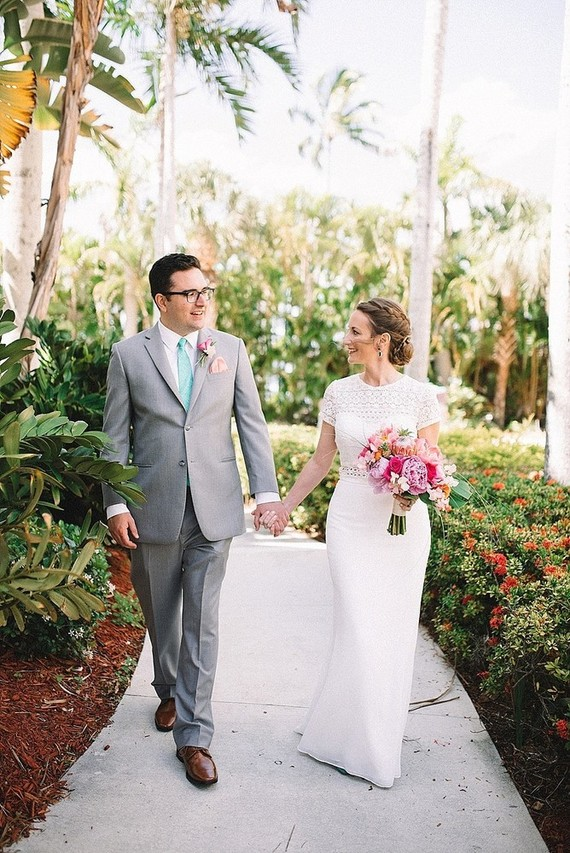 Summer Florida wedding on Marco Island