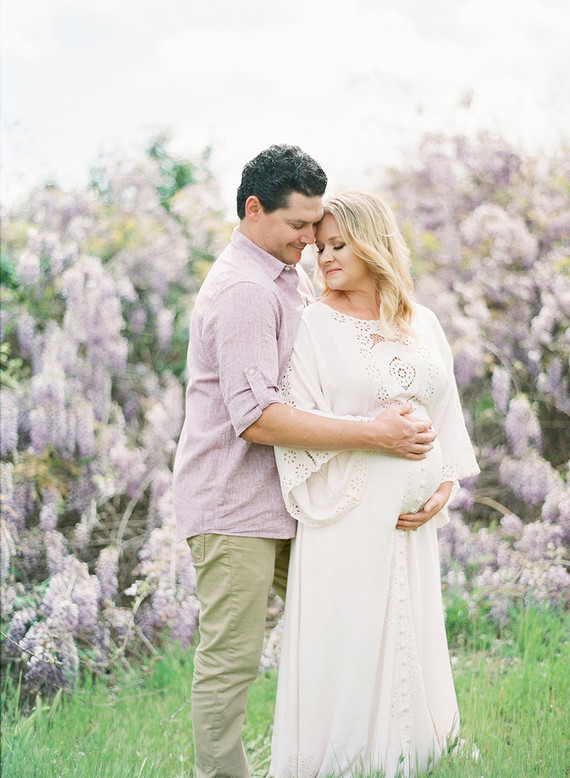 Wisteria maternity photos