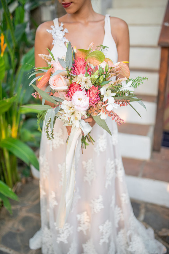 tropical costa rica wedding bouquet
