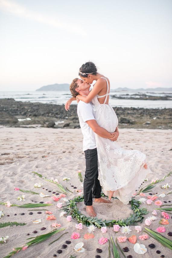 floral mandala for beach wedding