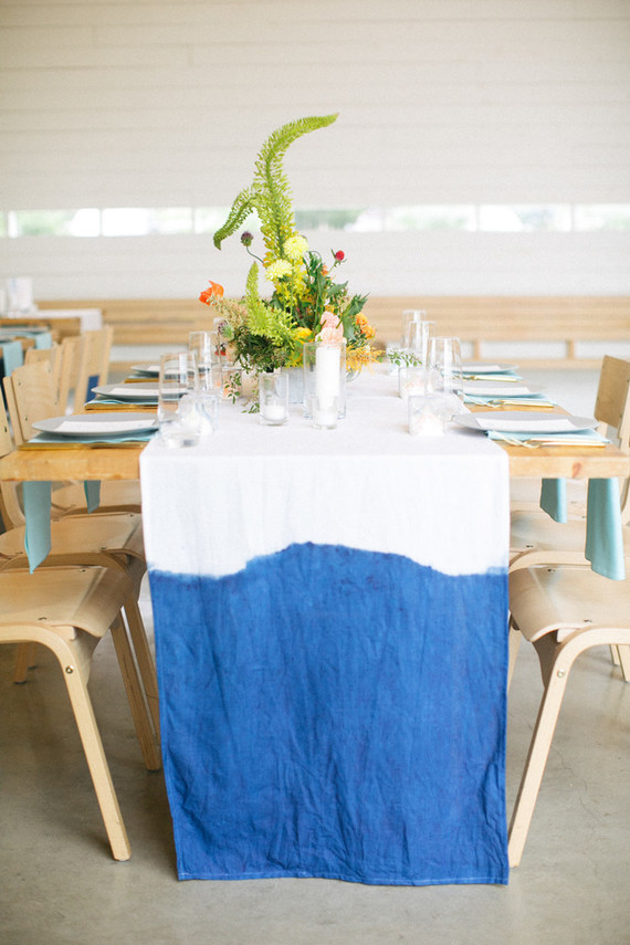 dip dyed tablecloth