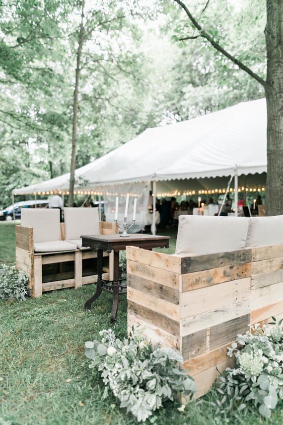 wedding tent in the woods