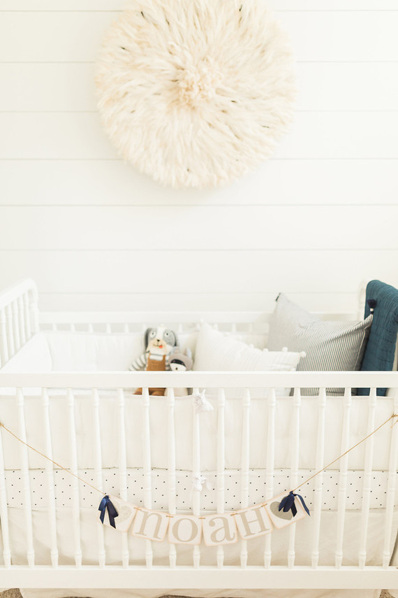 Modern white boy's nursery
