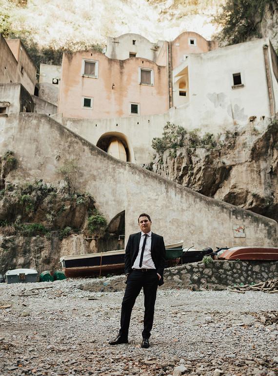 intimate Amalfi Coast elopement in Furore