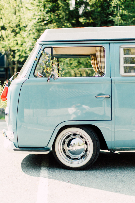 VW van for wedding
