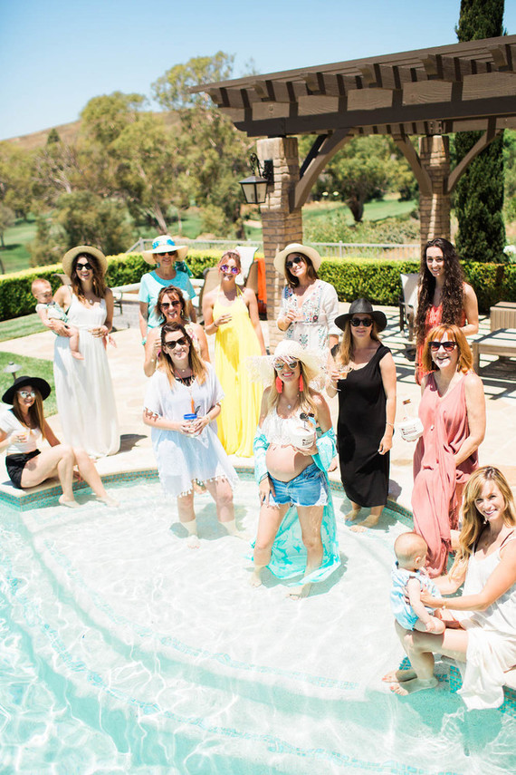 Pool party baby shower