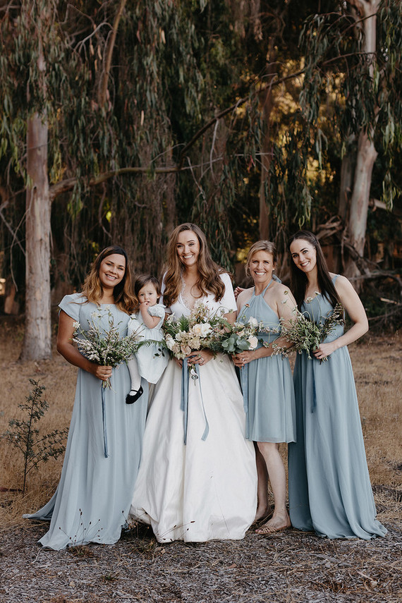 ocean blue bridesmaid dresses