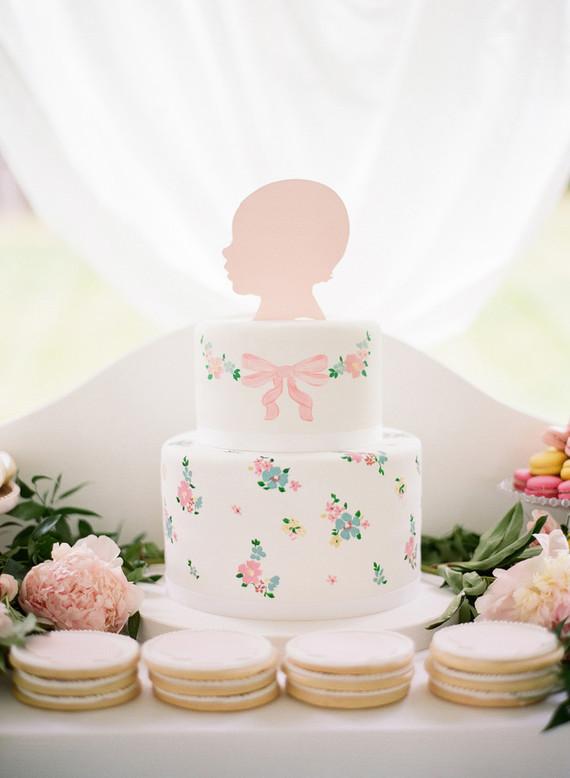 baby silhouette birthday cake