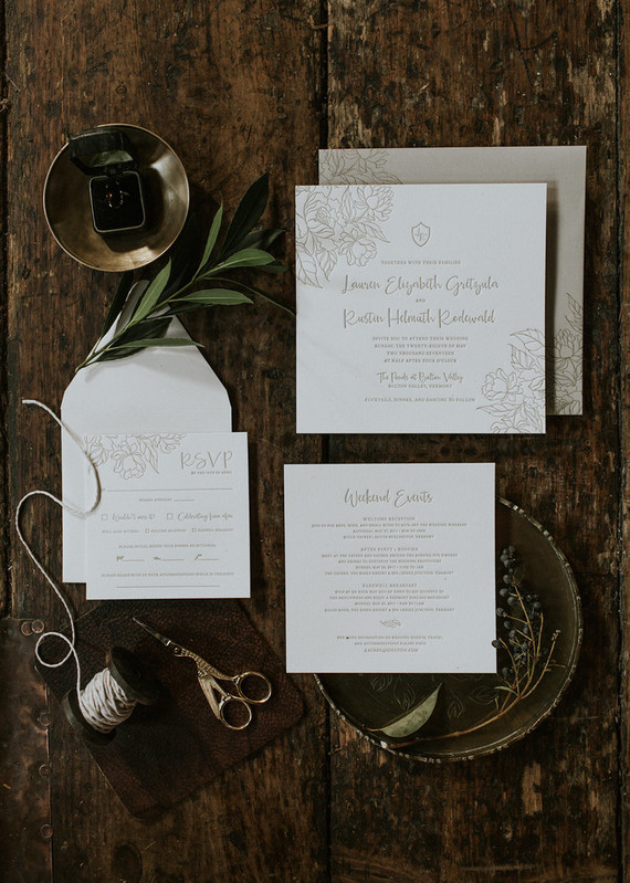 Dark, rustic fall wedding ideas