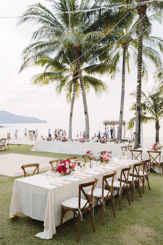 Pleasing Pink Watercolor Beach Wedding In Thailand Tropical Beach Download Free Architecture Designs Scobabritishbridgeorg