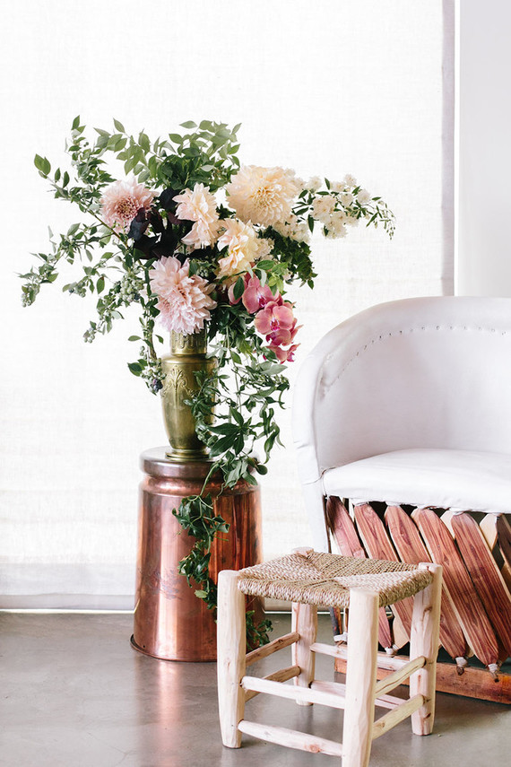 modern boho baby shower florals