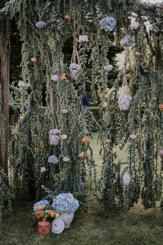 floral installation for wedding
