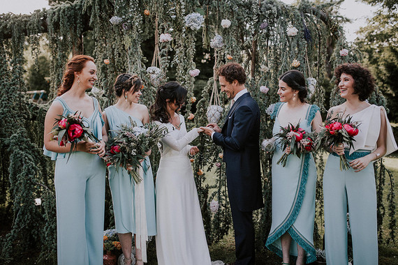 light blue bridesmaids dresses