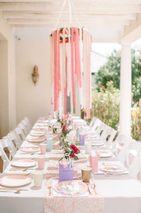 Unicorn themed tablescape
