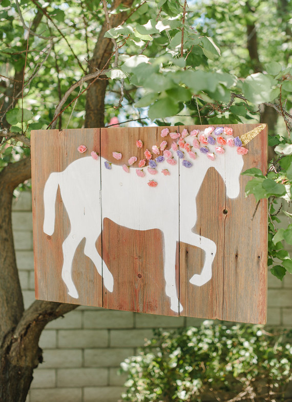 Unicorn themed first birthday party