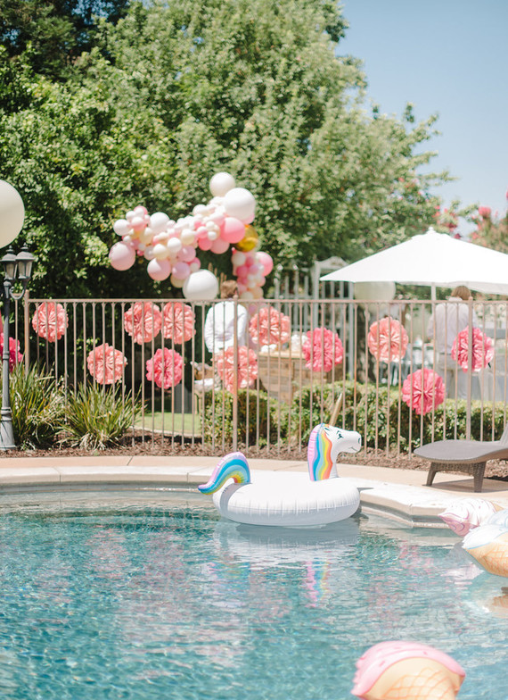 Unicorn Themed First Birthday Unicorn Party Ideas 100 Layer Cakelet