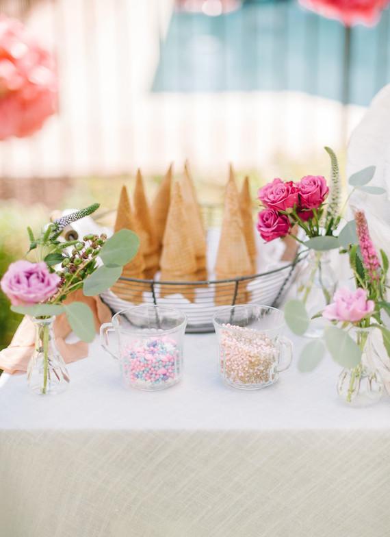 Unicorn themed party desserts
