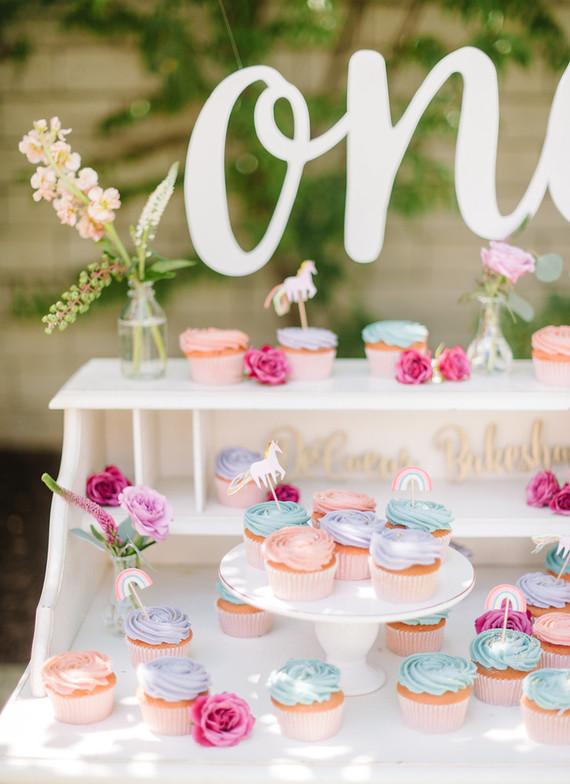 Unicorn cupcake bar