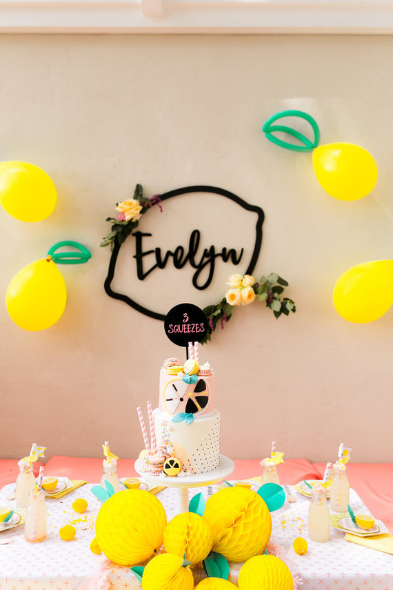 Whimsical lemonade stand birthday | Lemonade party ideas