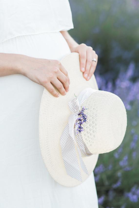 Lavender field maternity photos