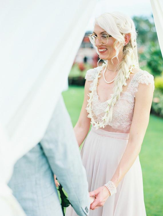 Indie Portland meets Maui wedding
