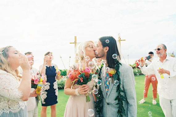 Indie Portland meets Maui wedding