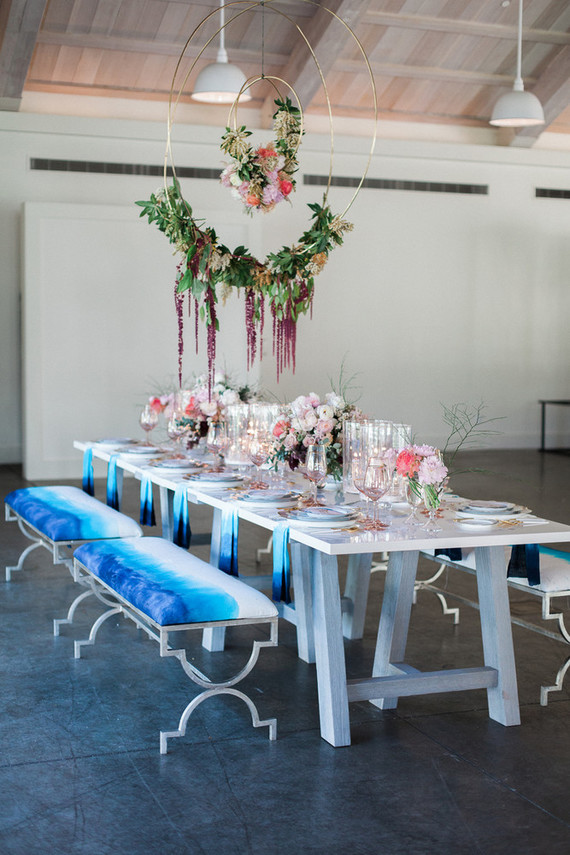 Pink and blue wedding editorial | Pink wedding ideas | 100 Layer Cake