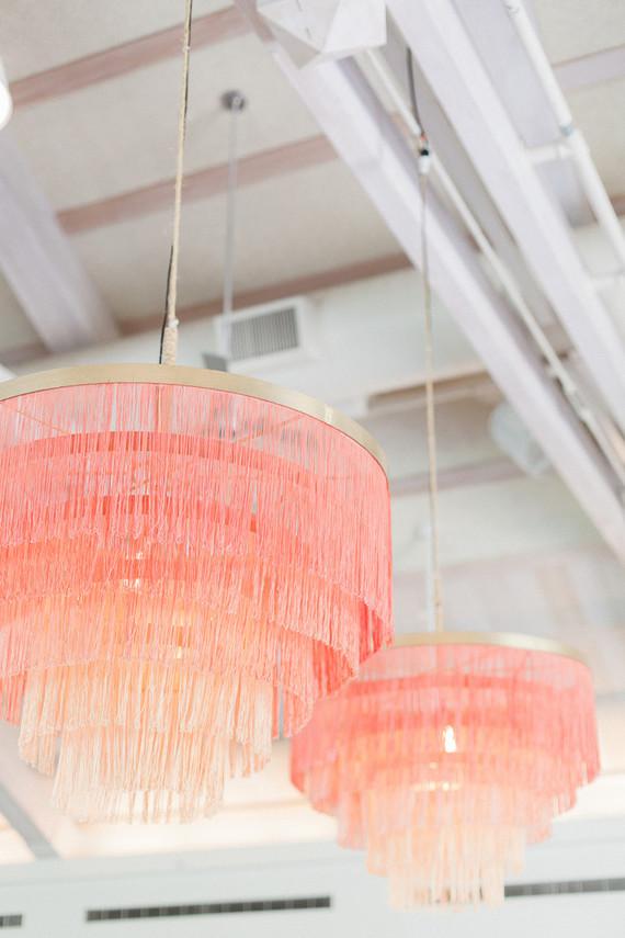 pink fringe chandelier