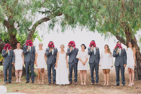 fiesta chic bougainvillea wedding party