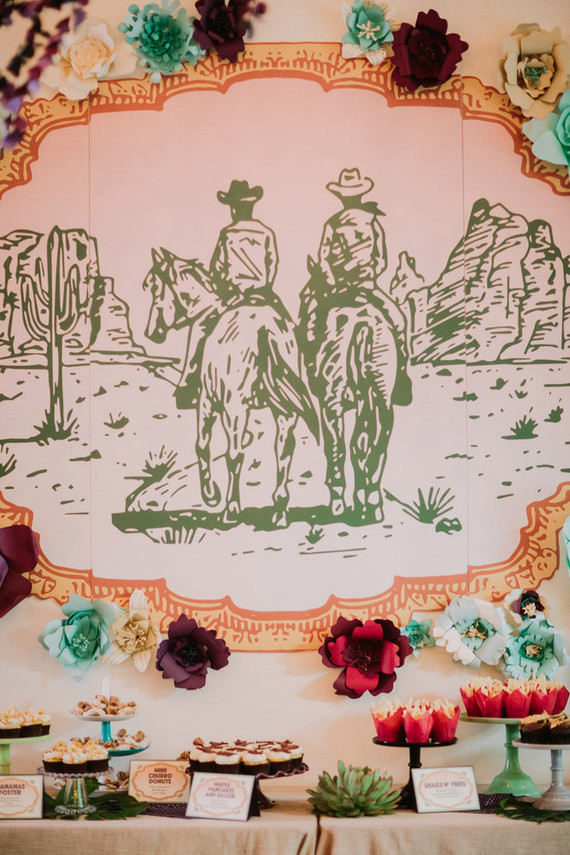 Wild West kitsch dessert table