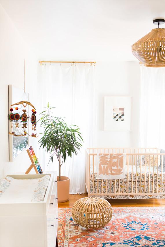 Modern eclectic boy's nursery