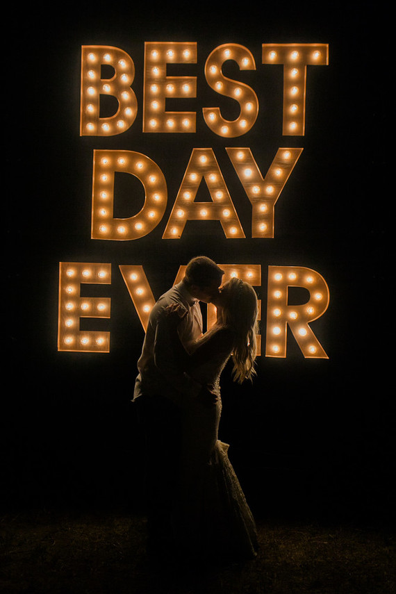 Best Day Ever marquee sign