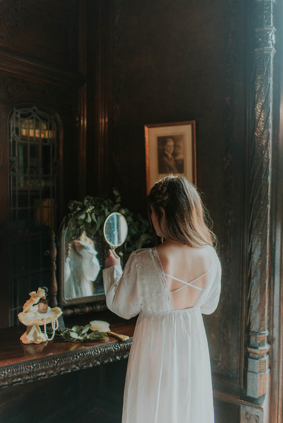 Moody, ornate Secret Garden-inspired bridal editorial