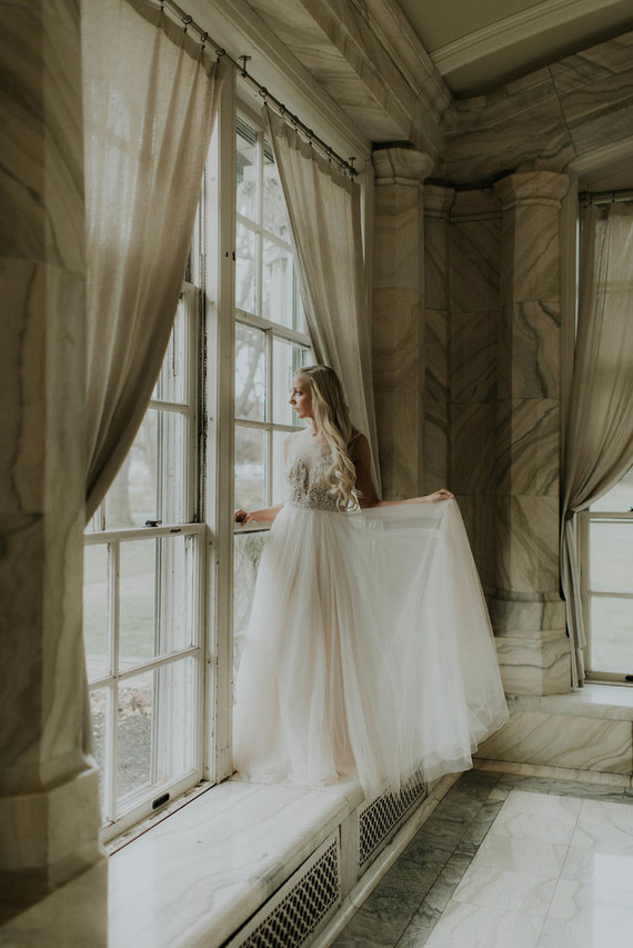 Secret Garden-inspired bridal editorial