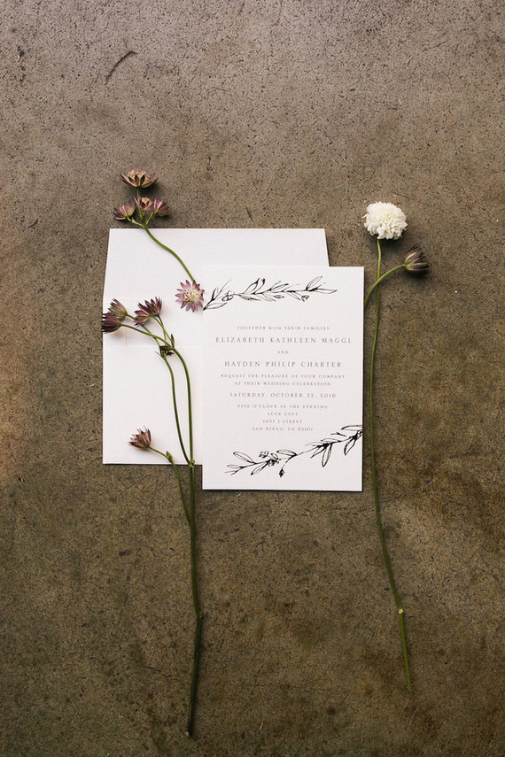 Simple wedding invite