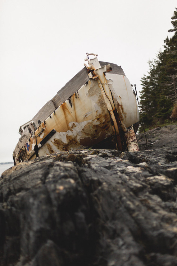 Moody shipwreck inspired wedding editorial