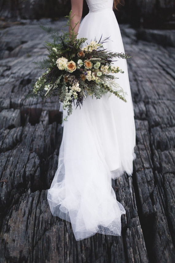 Coastal shipwreck wedding inspiration in Nova Scotia