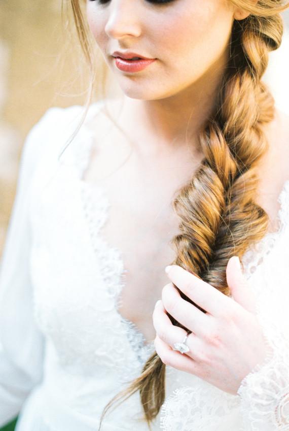 Romantic bridal braid
