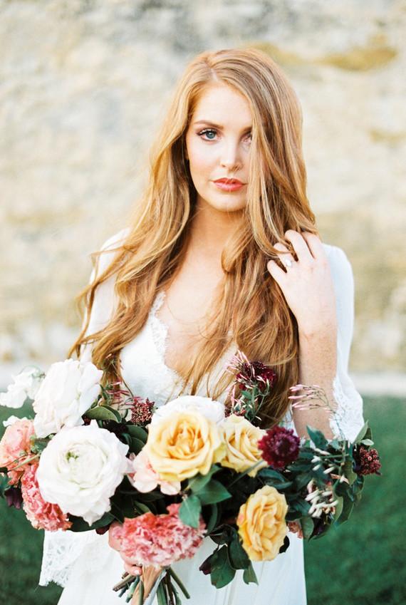 Romantic ruins bridal editorial