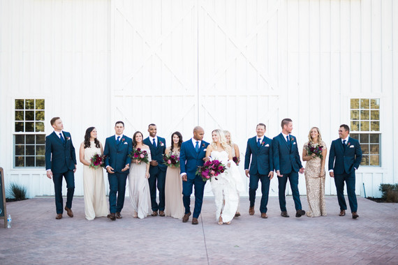 Bright, modern barn wedding