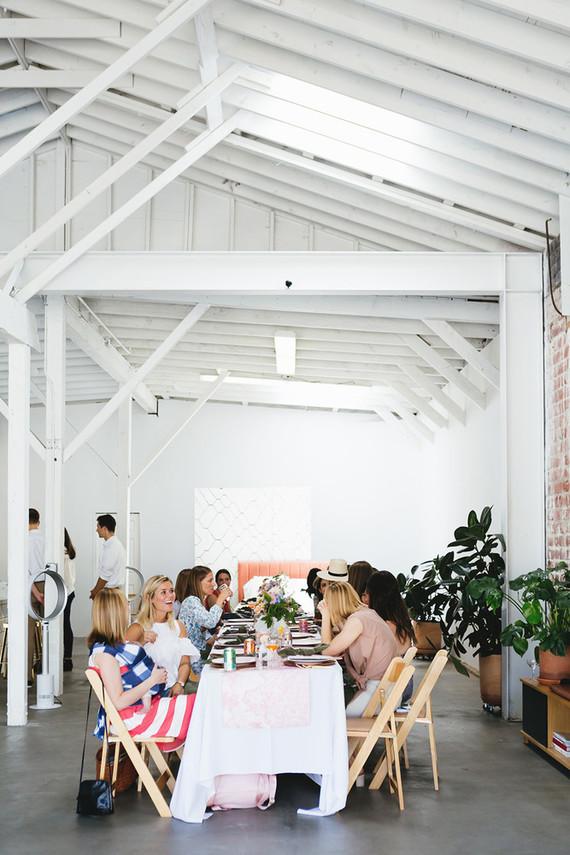 Sarah Sherman Samuel's wallpaper launch lunch