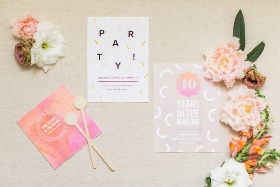 40th birthday party invites